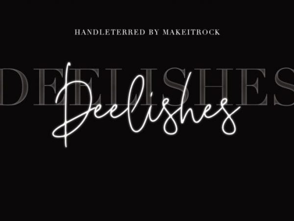 Deelishes Handmade Script Font