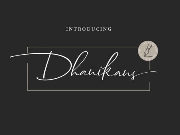 Dhanikans Free Handwritten Signature Font