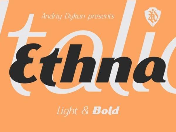 Ethna Free Vintage Fonts