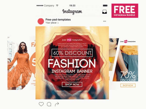 Fashion Instagram Banner Banner Template