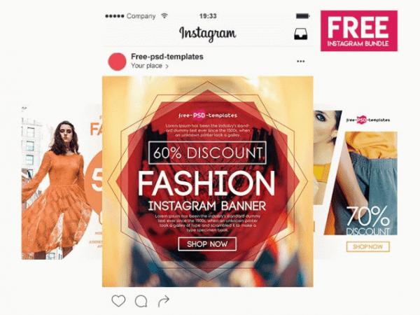 Fashion Instagram Banner Banner Template