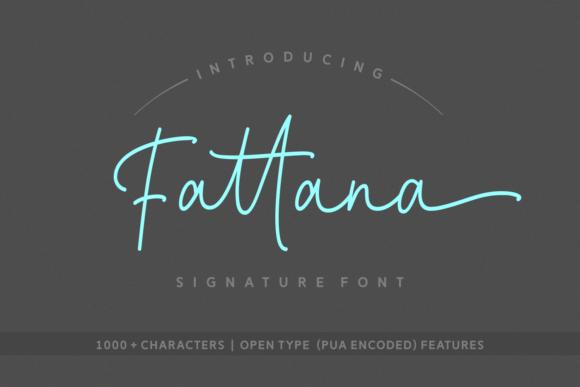Fattana Signature Script Font