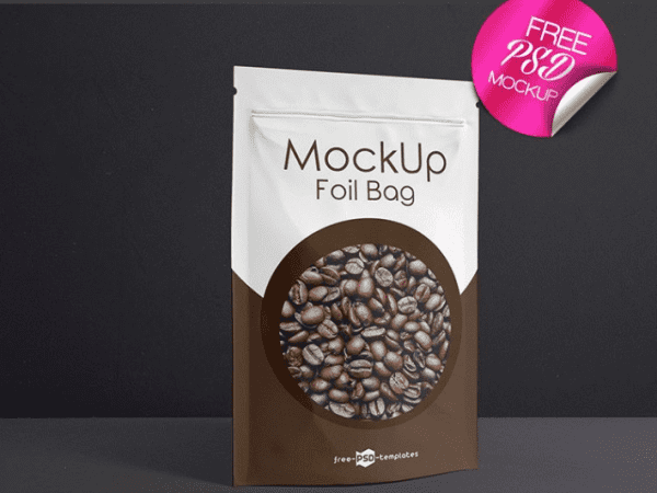 Foil Coffee Bags PSD MockUps