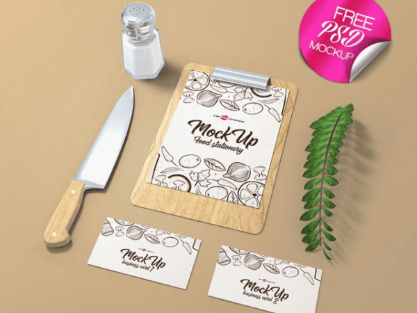 Food Stationary PSD MockUps