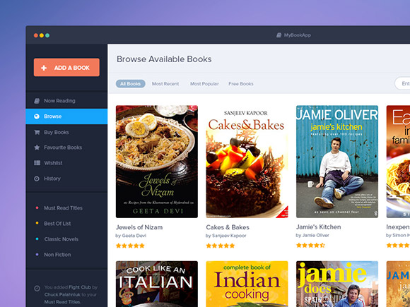 Free Book Apps PSD Template