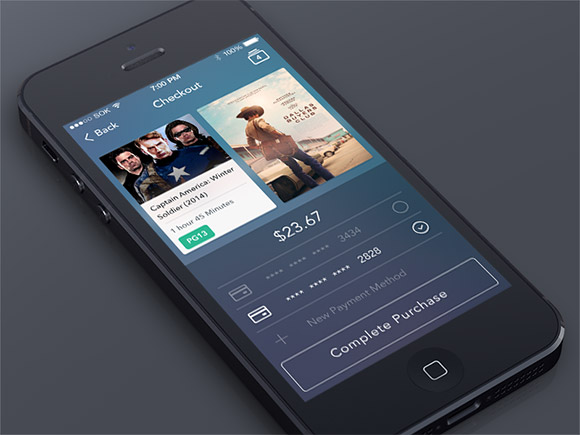 Free Checkout Screen App PSD Template