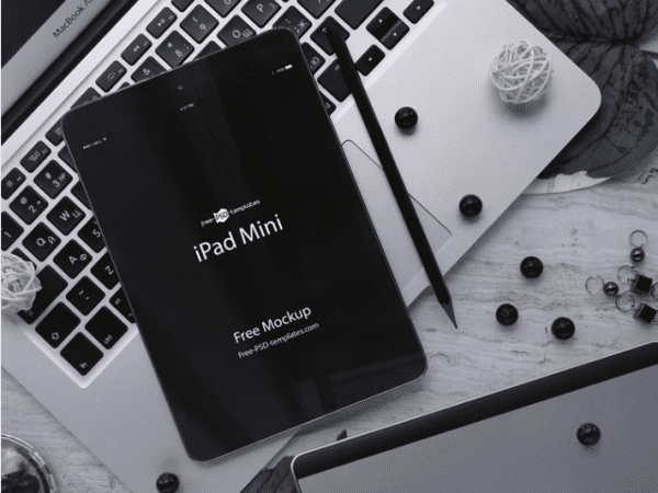 Free iPad Mini Mockup PSD Template