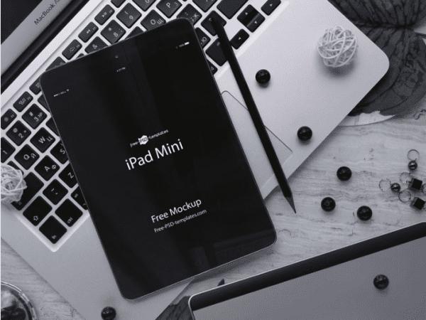 Free iPad Mini Mockup PSD Template