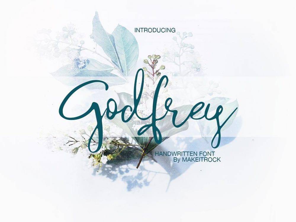 Godfrey Handmade Script Font