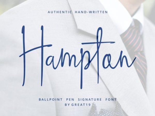Hampton Free Signature Fonts
