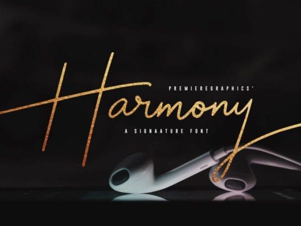 Harmony Elegant Signature Font