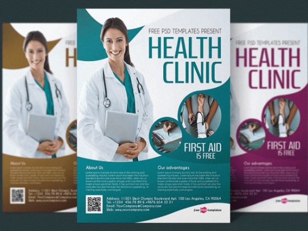 Health Clinic Flyer PSD Template
