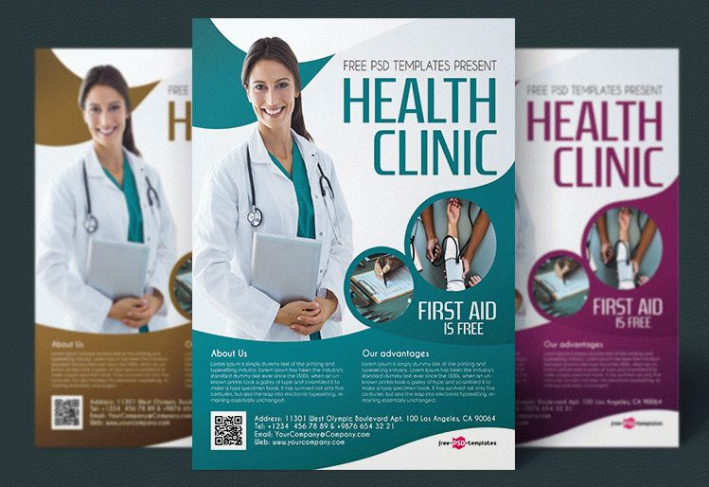 Health Clinic Flyer PSD Template - Mockup Free Downloads