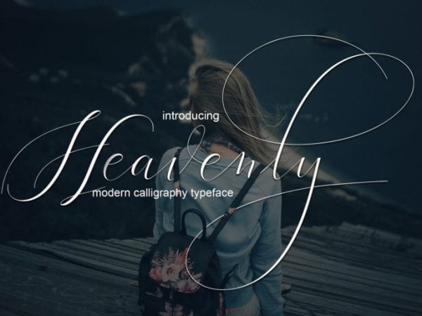 Heavenly Modern Calligraphy Typeface
