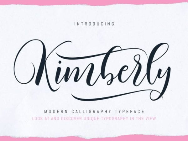 Kimberly Modern Script Calligraphy Font