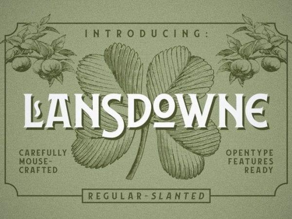 Lansdowne Free Vintage Typeface
