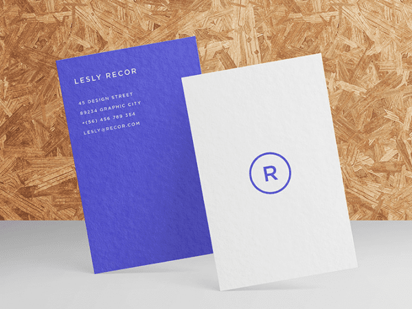 Lesly Free Business Card Mockup PSD Template
