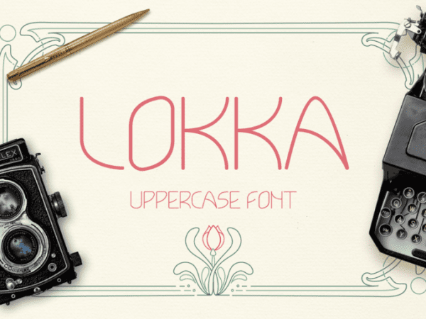 Lokka Geometric Display Font