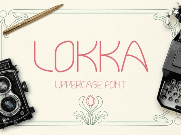 Lokka Geometric Display Font