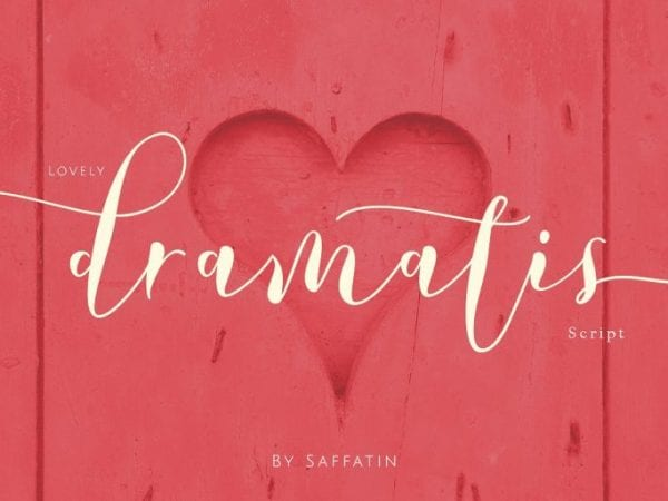 Lovely Dramatis Brush Calligraphy Font
