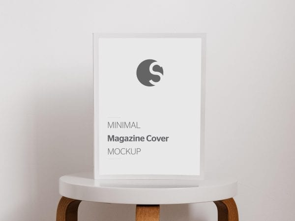 Magazine Cover Mockup PSD Template