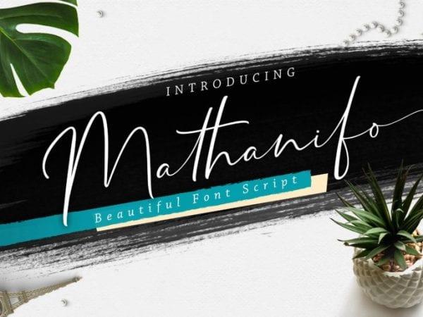 Mathanifo Beautiful Script Fonts