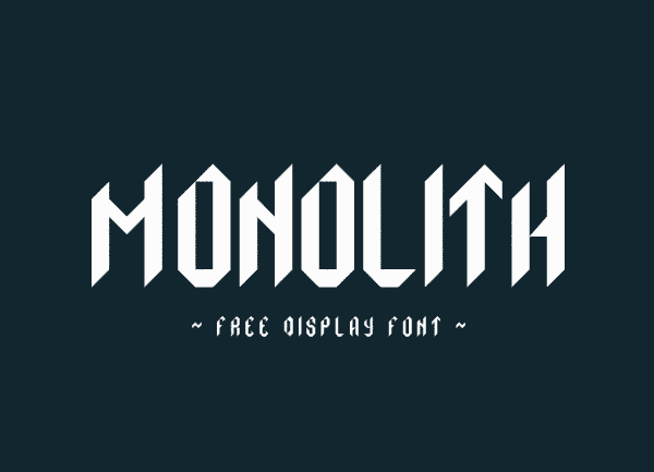 Monolith Free Geometric Display Font