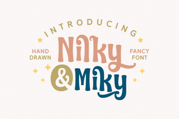Nilky & Miky Free Modern Display Fonts