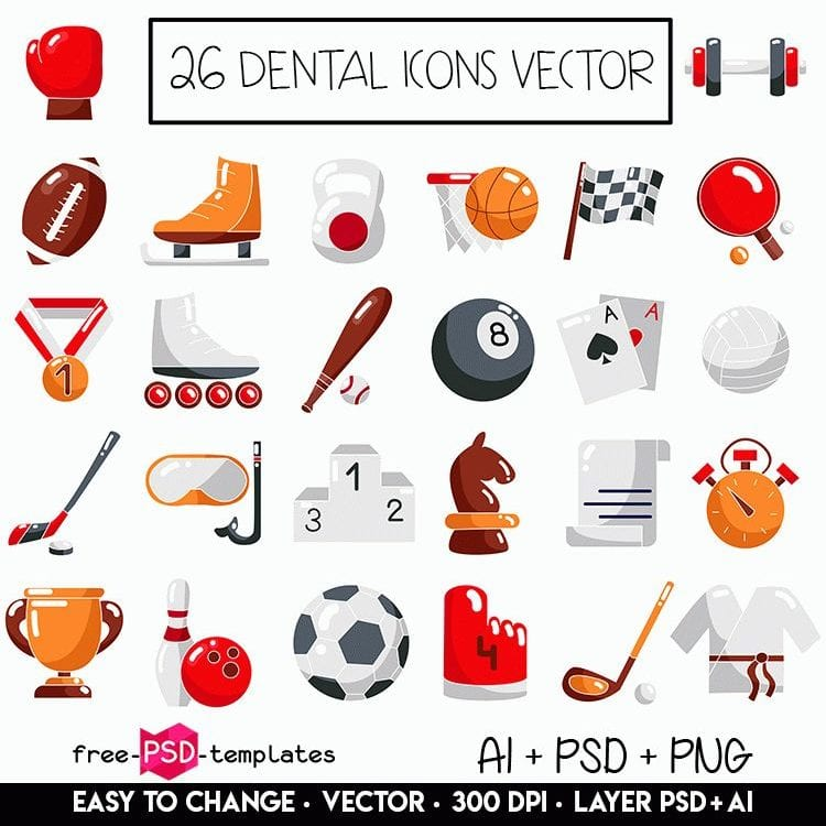 Pack Of 26 Sports Icon Vector