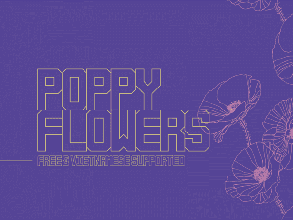 Poppy Flowers Unique Typefaces