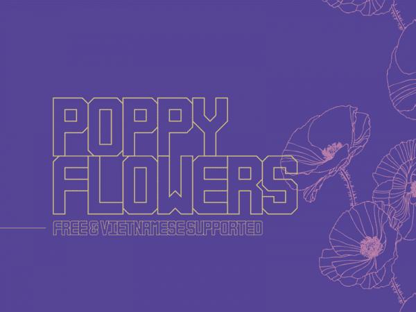 Poppy Flowers Unique Typefaces