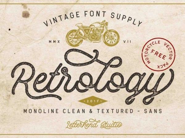 Retrology Free Vintage Script Typeface