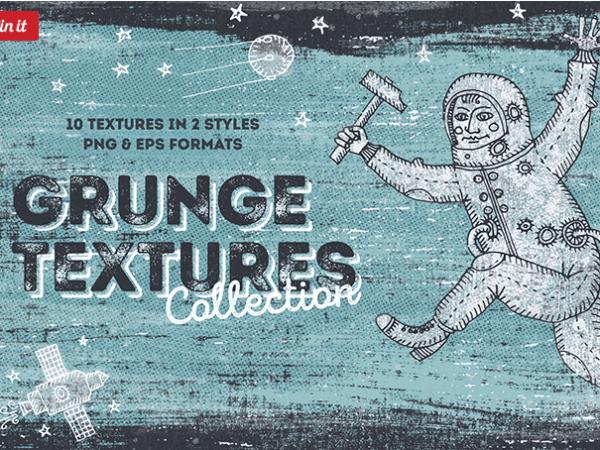 Set Of 10 Hand drawn Blackview Grunge Texture