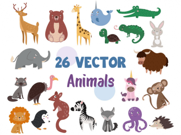 Set Of Free Animal Alphabet Vector