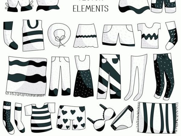 Set Of Free Clothing Vectors