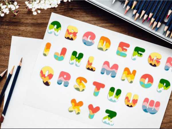 Set Of Free Font Color Elements