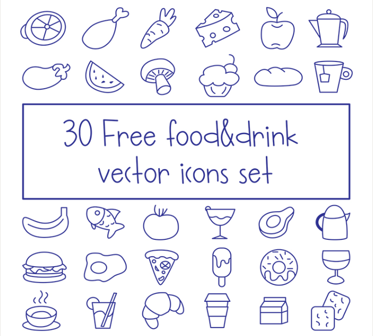 Set Of Free Food And Drink Icon