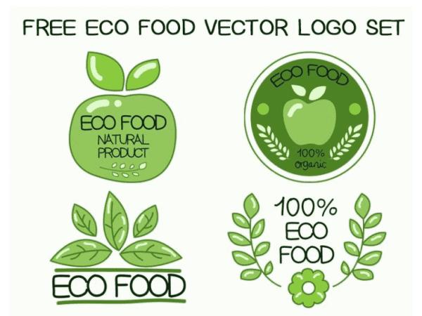 Set Of Free Food Logo Design
