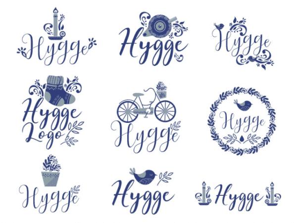 Set Of Free Hygge Logo