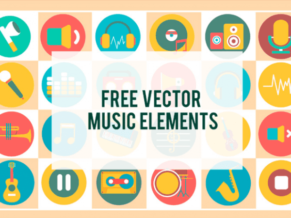 Set Of Free Music Vector Elements