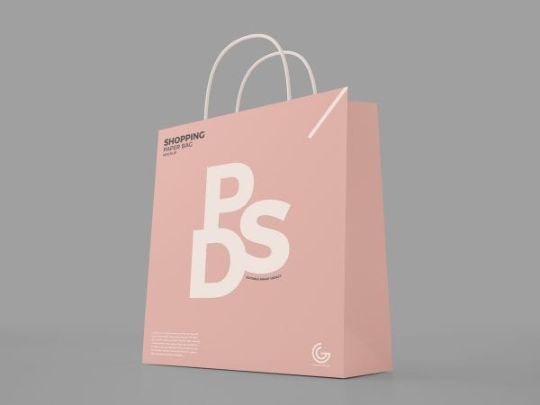 Shopping Paper Bag MockUp PSD Template