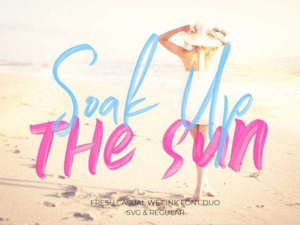 Soak Up The Sun Brush Script Typeface