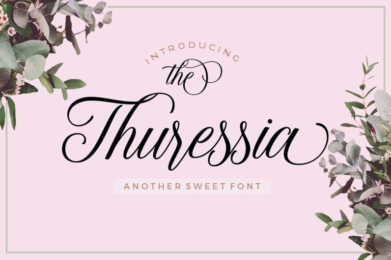 Thuressia Handmade Calligraphy Font