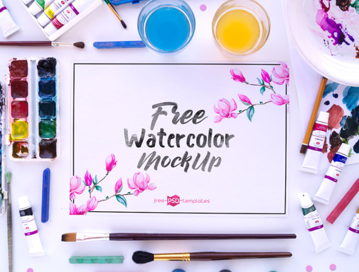 Watercolor MockUp PSD Template