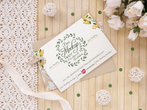 Wedding Invitation Card MockUp PSD Templates