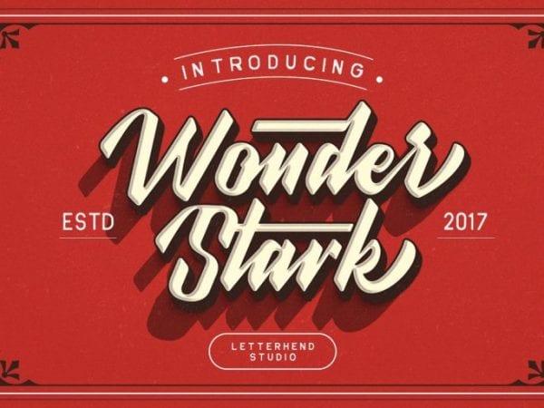 Wonder Stark Free Vintage Typeface