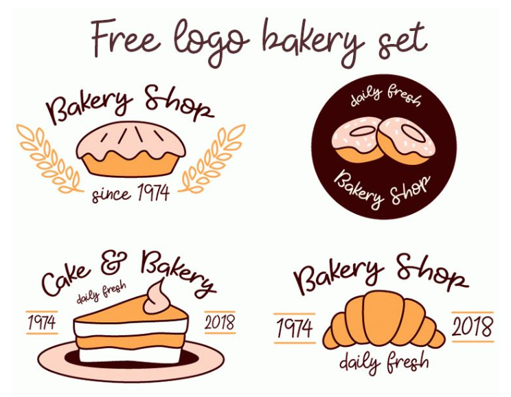 Set Of Free Bakery Logo
