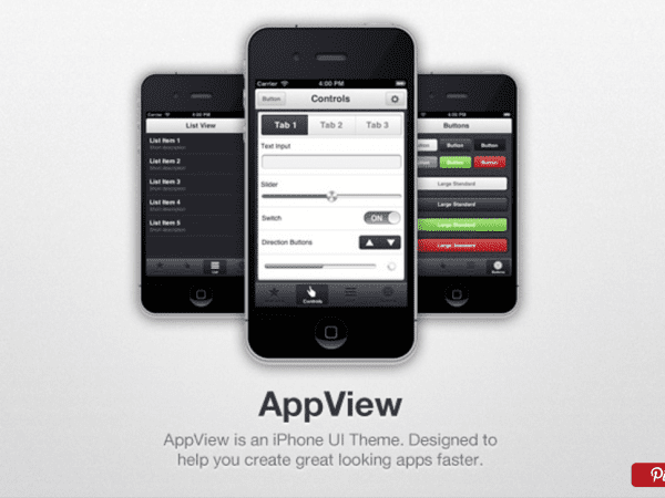 iPhone App UI Free Theme - AppView