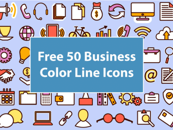 50 Business Icons Vector Free Download