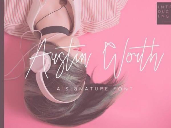Austin Worth Handwritten Signature Font